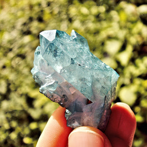 Cute Shimmering Blue Aqua Aura Quartz Cluster From Arkansas #2