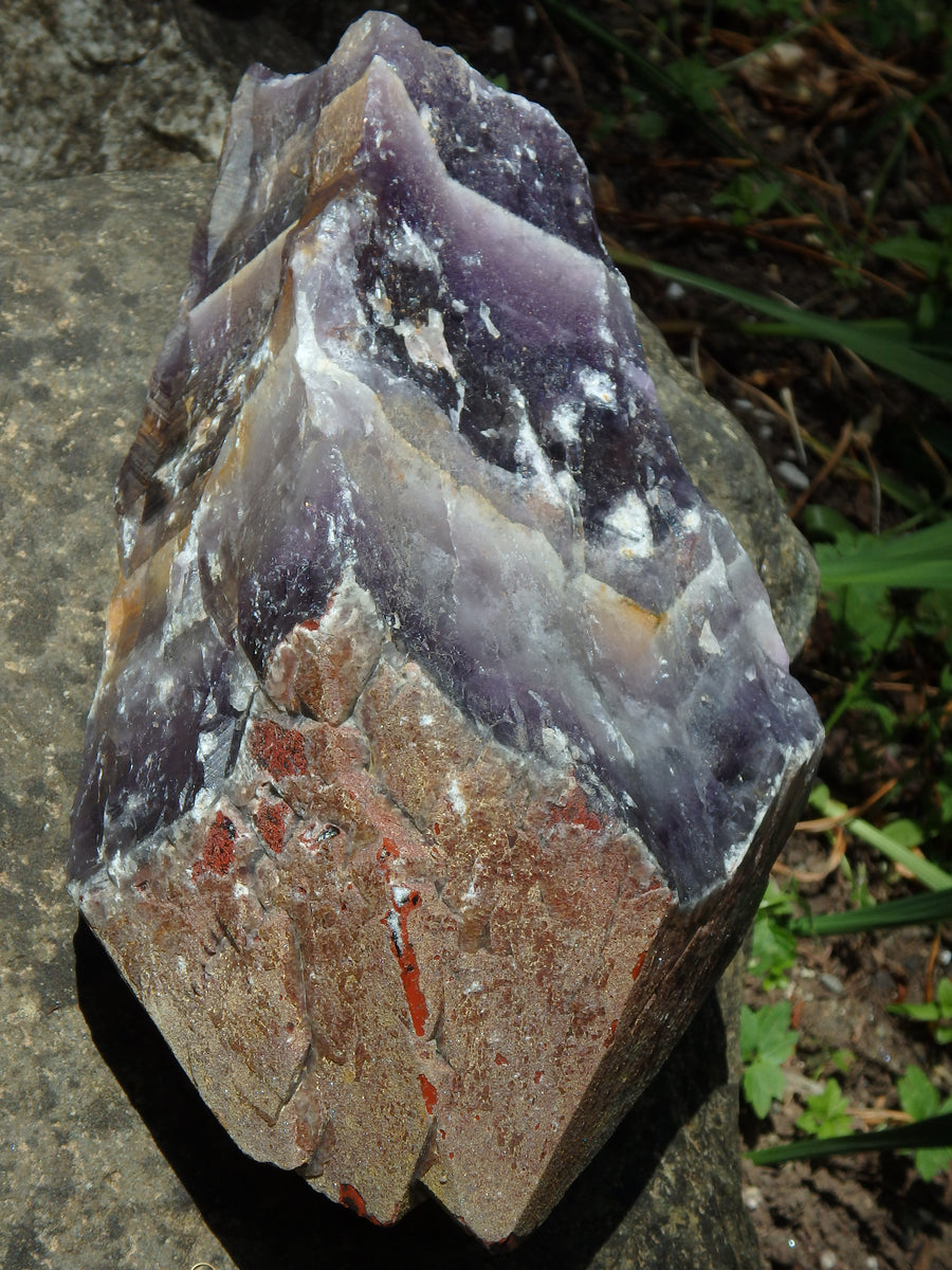 XXXL 6 LB ~Jumbo Auralite-23 Elestial Display Point With Record Keepers From Canada (Mega Healing Powerhouse Specimen) - Earth Family Crystals