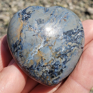 Rare Gorgeous Silky Patterns Medium Pietersite Heart Carving from Namibia #2