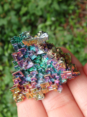 3D Structure Rainbow Bismuth Specimen From Germany - Earth Family Crystals