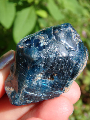 Unique Natural Deep Blue Apatite Point From Brazil