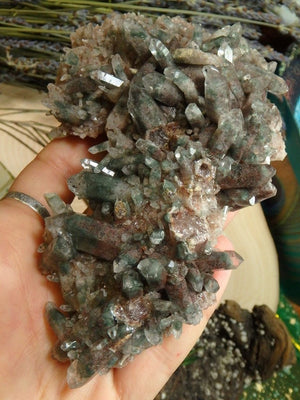 Amazing Himalayan Green Chlorite Quartz Cluster - Earth Family Crystals