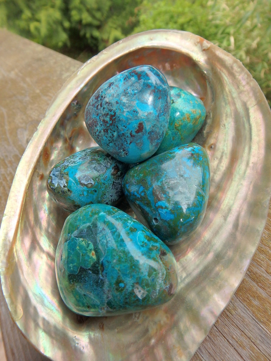 Vibrant Robin Egg Blue Chrysocolla Hand Held Specimen (1) - Earth Family Crystals