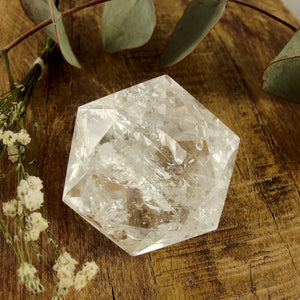 Stunning Medium Faceted Diamond Cut Clear Quartz Specimen #2