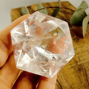 Stunning Large Faceted Diamond Cut Clear Quartz Specimen #2
