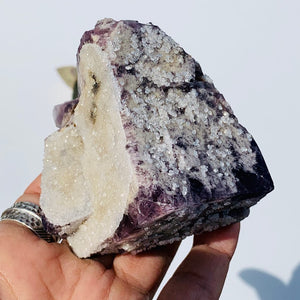 Famous Locality~Rogerley Mine Large Fluorite Cluster With Quartz Druzy Dusting From Frosterley, England #2 - Earth Family Crystals