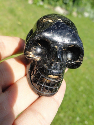 NUUMMITE CRYSTAL SKULL~ Stone of The Sorcerers - Earth Family Crystals