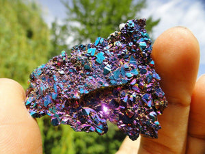 TITANIUM QUARTZ CLUSTER~ Stone of Relaxation & Humor* - Earth Family Crystals