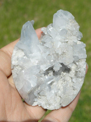 CELESTITE Spikey Partial Egg~ Stone of The Angelic Domain - Earth Family Crystals