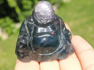 FLUORITE BUDDHA~ Stone of Mental Enhancement & Clarity - Earth Family Crystals