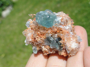 CREEDITE & FLUORITE CLUSTER~ Stone of Creative Visualization* - Earth Family Crystals