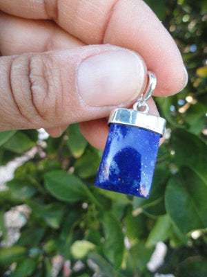 Royal Blue LAPIS LAZULI PENDANT In Sterling Silver (Includes Silver Chain) - Earth Family Crystals