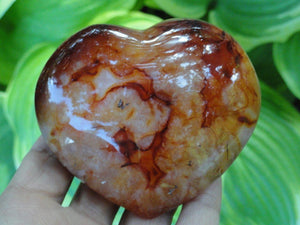 CARNELIAN HEART~Stone of Creativity, Sexuality, Relief of Anger & Frustration** - Earth Family Crystals