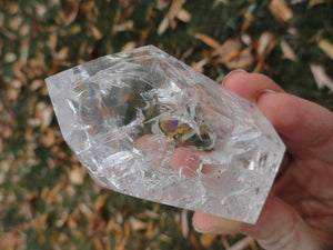 RAINBOWS! CRACKLE QUARTZ GENERATOR From Brazil - Earth Family Crystals