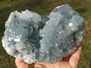 Amazing Beauty! Large Deep Blue CELESTITE GEMSTONE SPECIMEN - Earth Family Crystals