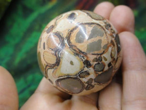 Amazing Patterns LEOPARD SKIN JASPER GEMSTONE SPHERE From Peru* - Earth Family Crystals