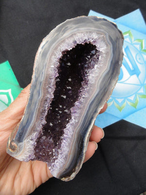 AMETHYST GEODE SPECIMEN - Earth Family Crystals