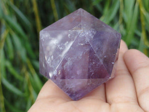 Amethyst Icosahedron Sacred Geometry Shape* - Earth Family Crystals