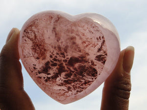 PINK GIRASOL HEART - Earth Family Crystals