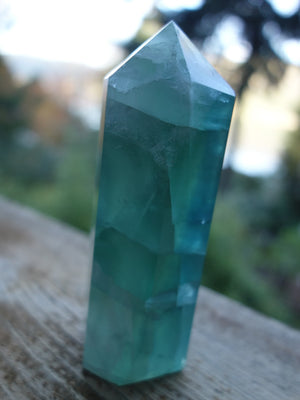 Fabulous  Green Fluorite Generator Carving - Earth Family Crystals