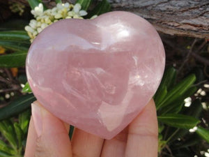 Sweet Vibes ROSE QUARTZ GEMSTONE HEART - Earth Family Crystals