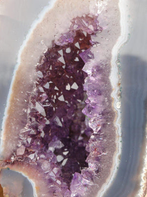 Purple AMETHYST GEODE - Earth Family Crystals