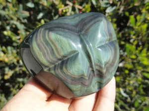 Absolutely Stunning! RAINBOW OBSIDIAN BUTTERFLY SELF STANDING SPECIMEN - Earth Family Crystals