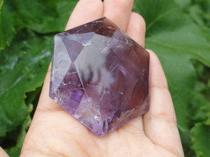 AMETHYST STAR OF DAVID Sacred Geometric Shape - Earth Family Crystals