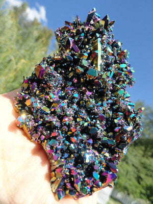 TITANIUM QUARTZ CLUSTER - Earth Family Crystals