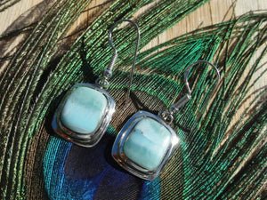 LARIMAR EARRINGS In Sterling Silver - Earth Family Crystals