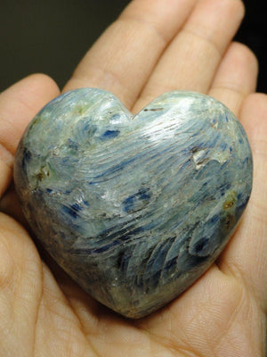 Beautiful BLUE KYANITE HEART - Earth Family Crystals