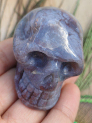 MOSS AGATE CRYSTAL SKULL - Earth Family Crystals