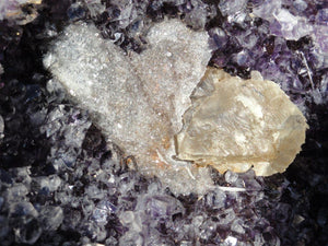 AMETHYST GEODE BOWL With Calcite Inclusions - Earth Family Crystals