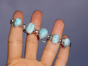 Breathtaking Blue  LARIMAR STERLING SILVER BRACELET - Earth Family Crystals