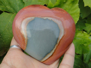 Large POLYCHROME JASPER HEART - Earth Family Crystals