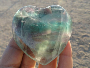 RAINBOW FLUORITE HEART* - Earth Family Crystals