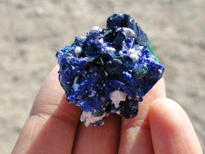 AZURITE PSEUDOMORPH From MALACHITE, Locality, Milpillas, Mexico - Earth Family Crystals