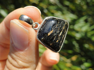 Genuine Greenland NUUMMITE PENDANT In Sterling Silver* (Includes Silver Chain) - Earth Family Crystals