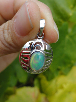 ETHIOPIAN OPAL PENDANT IN STERLING SILVER (INCLUDES SILVER CHAIN) - Earth Family Crystals