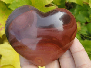 LARGE POLYCHROME JASPER HEART* - Earth Family Crystals