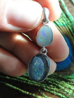 Amazing Flash Australian, Coober Pedy OPAL PENDANT In Sterling Silver (Includes Free Silver Chain) - Earth Family Crystals