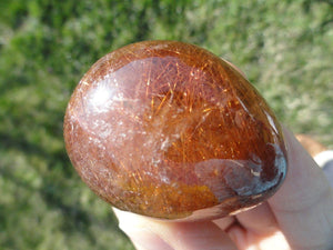 Golden Red RUTILATED QUARTZ SEER STONE From Brazil* - Earth Family Crystals