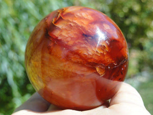 Firey Red CARNELIAN SPHERE - Earth Family Crystals