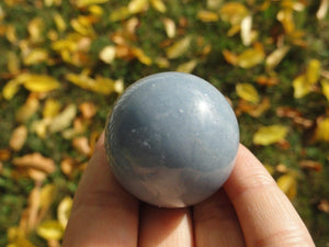 Blue ANGELITE SPHERE - Earth Family Crystals