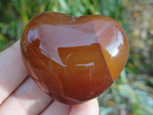 CARNELIAN PUFFY HEART - Earth Family Crystals