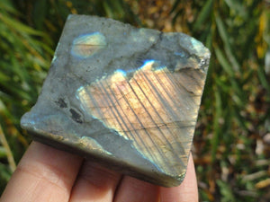 LABRADORITE One Side Polished Free-Form - Earth Family Crystals