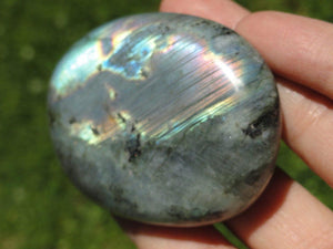 LABRADORITE PALM STONE~ Stone of Magical Abilities - Earth Family Crystals