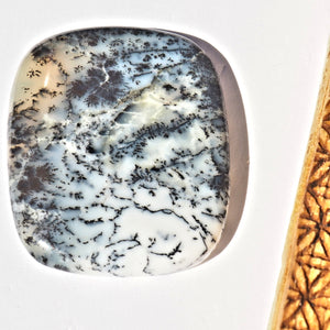 Chunky Dendritic Agate Cabochon Carving Ideal for Crafting #1