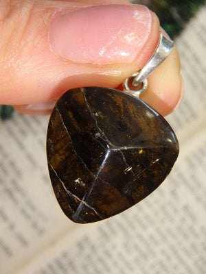 Chocolate Brown Dravite (Brown Tourmaline) Pendant in Sterling Silver (Includes Silver Chain) *REDUCED - Earth Family Crystals