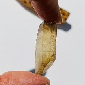 Double Terminated Natural Citrine Point From Zambia #2